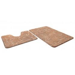 Набор ковриков для ванны SHAHINTEX ЭКО 60*90+60*50 бисквитный
