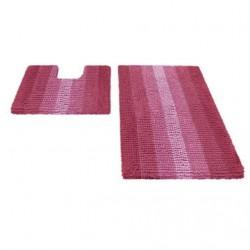 Набор ковриков для ванной SHAHINTEX MULTIMAKARON 60*90+60*50 розовый