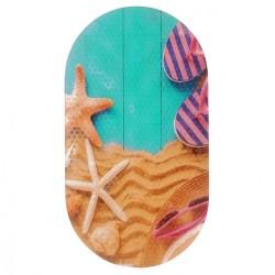 Коврик противоскользящий в ванную «Пляж» 68*38