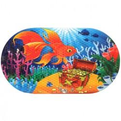 Коврик противоскользящий в ванную «Золотая рыбка» 68*38