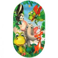 Коврик противоскользящий в ванную «Слон» 68*38